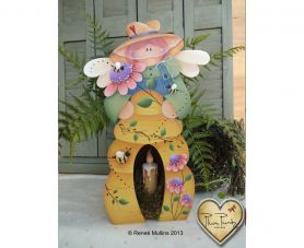 #604  Bee Keeper Candle Box (PATTERN)