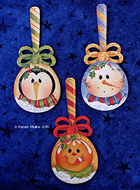 #677 Holiday Spoon Ornaments (PATTERN)