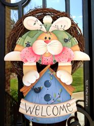 #690 Bunny Birdhouse Welcome  (PATTERN)