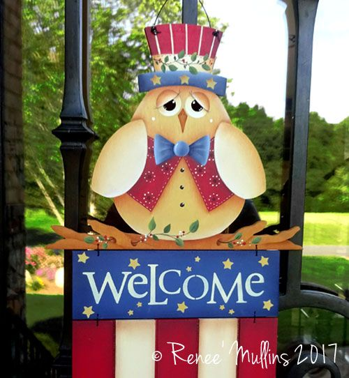 #711 Patriotic Owl Welcome (PATTERN)