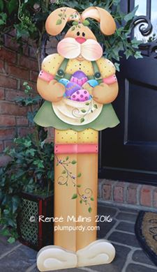 #688  Easter Bunny Porch Greeter (PATTERN)