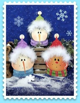 #619 Furry Hat Ornaments (Pattern Packet)
