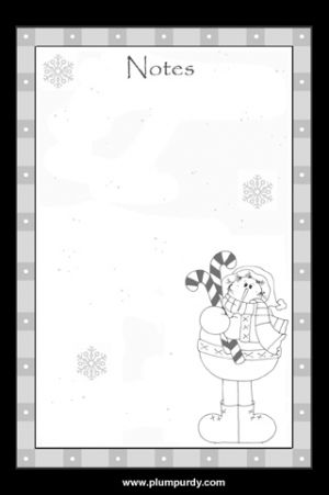 Winter Snowman Note Pad