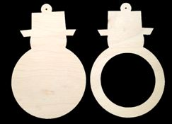 Snowman Ornaments (WOOD 2pc. SMF)