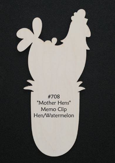 "#708 ""Mother Hens""  (Hen & Melon WOOD)"
