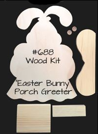 #688 Easter Bunny Porch Greeter (WOOD KIT)
