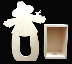 #605 Scarecrow Candle Box (WOOD)