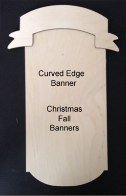Curved Edge Banners (WOOD)