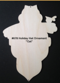 #678 Holiday Hat Oranments (CAT ONLY)