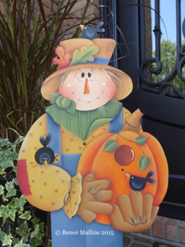 #631 Scarecrow Porch Greeter (PATTERN)