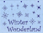 Winter Wonderland Snowflake Stencil (#102)